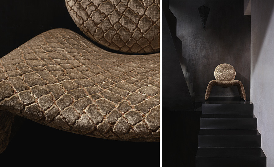 "Zinc Textile presents this new fabric collection ""Salamander"""