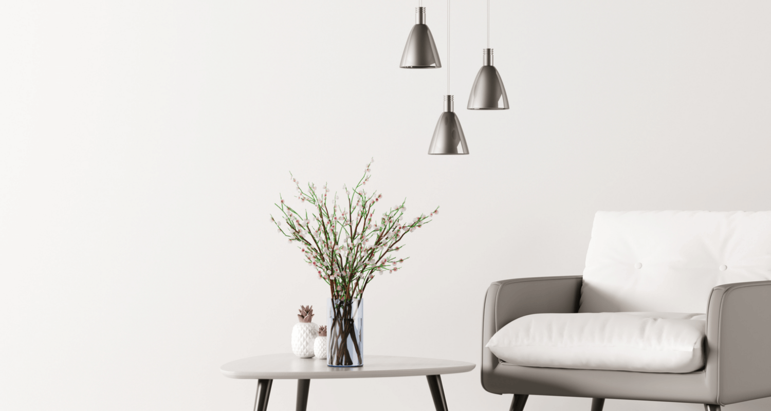 industrial lights in Scandinavian design